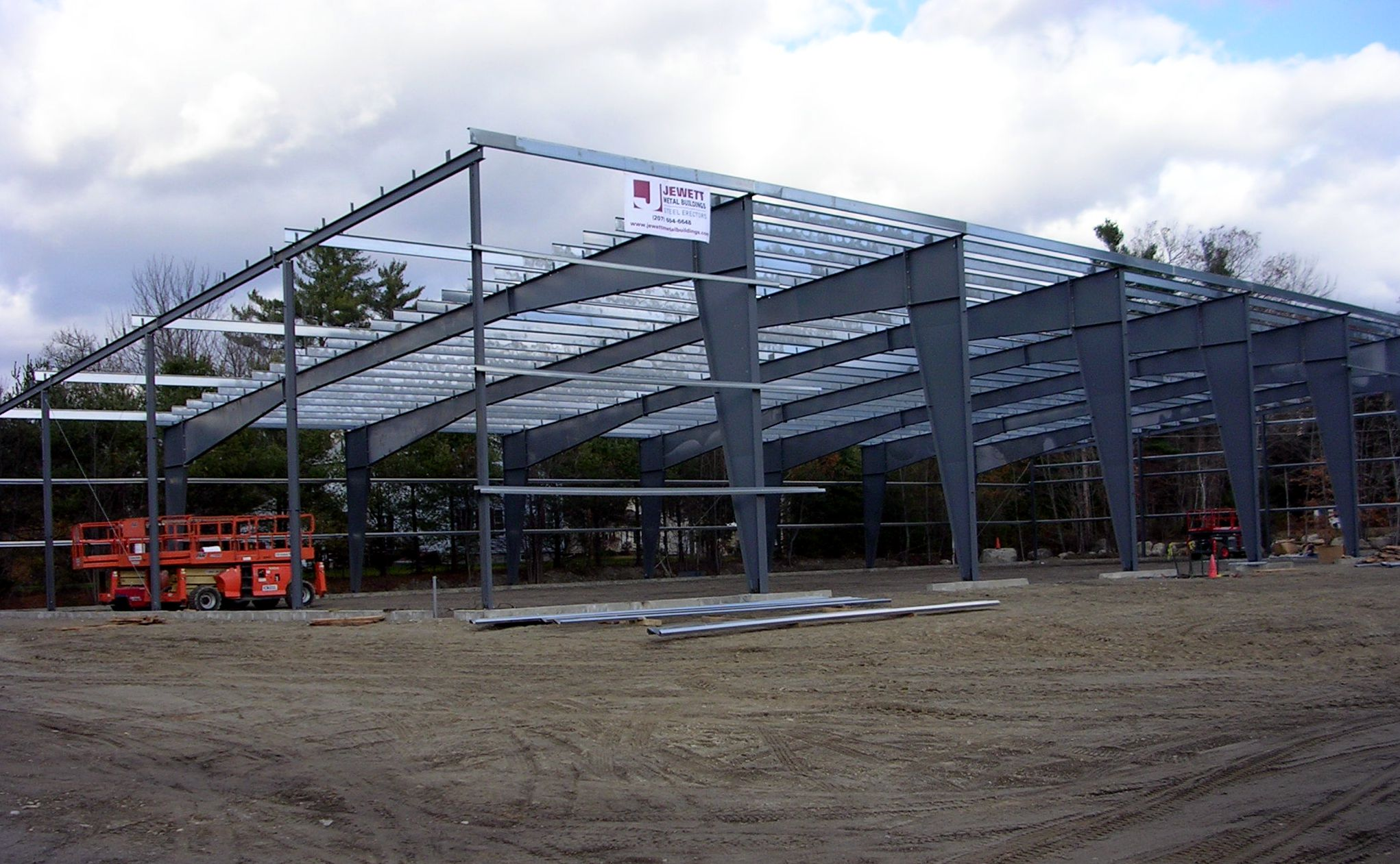 Jewett Metal Buildings Erects Boat Storage Building For
