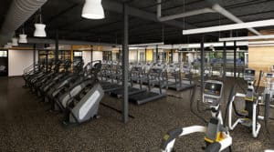 Exercise studios and small group training areas,