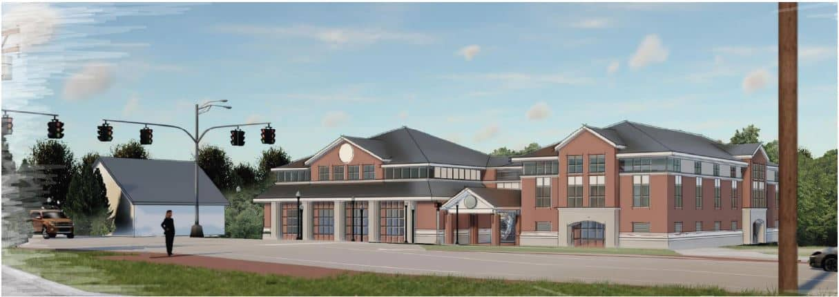 Rendering of Main Avaiation's new facility