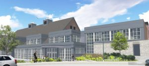 UNH Holloway Commons – West Elevation