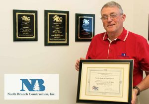 Safety Director Don Carter accepted North Branch Construction's awards.