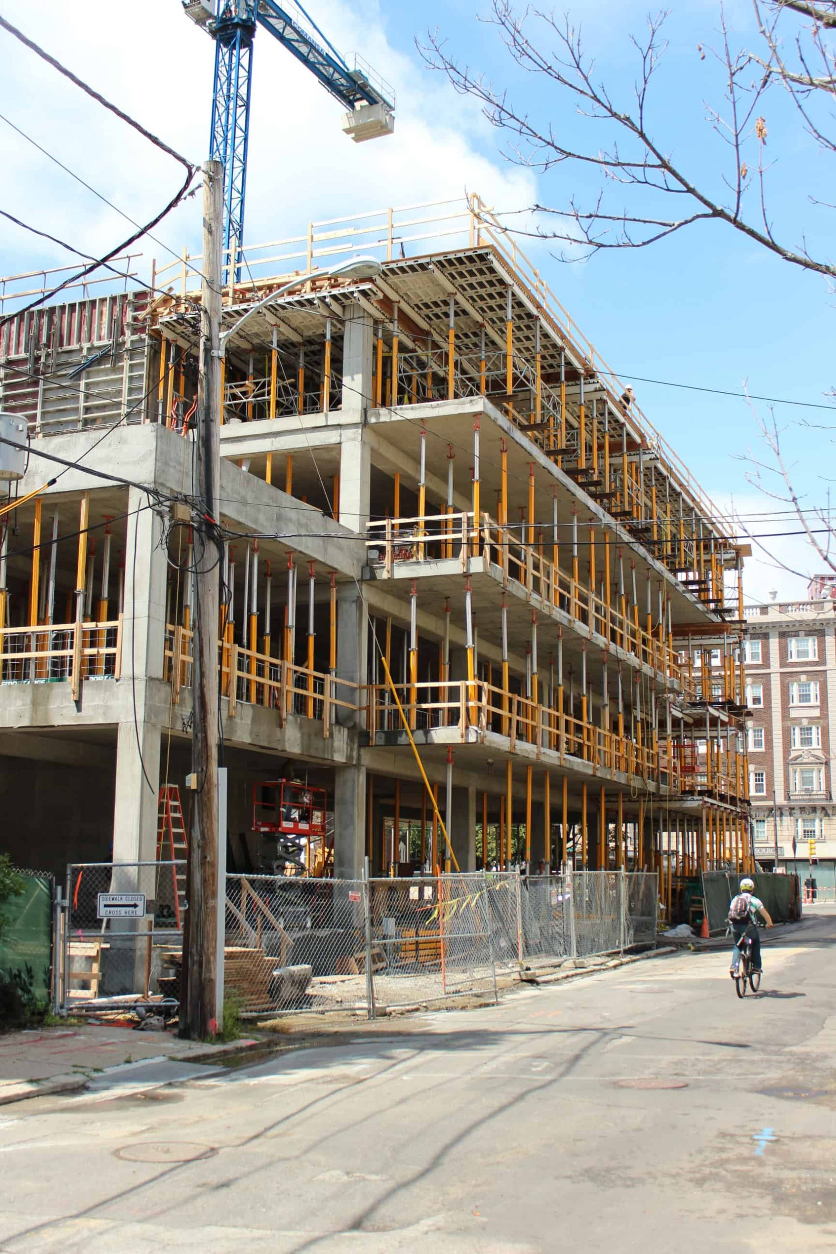 Construction well underway at Lesley University's Lunder Arts Center