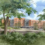 Rendering of new Residence hall
