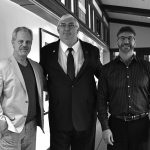 (l-r) N.B. Kenney Exec. VP, Robert Nims, Boston Mechanical's VP, Aidan Maguire and N.B. Kenney President Steven Kenney.