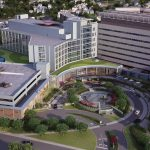 Aerial view of Danbury Hospital