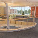 Endicott Modular Dorm Central Lobby Designed by Bergmeyer