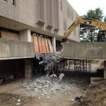 Demolition of CT College's Shain Library
