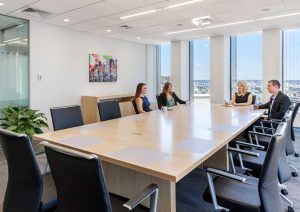 New conference center is the showcase of law firm's office at One Boston Place