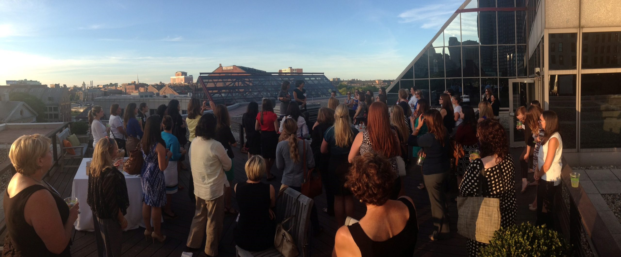 Panorama of AllSteel roof deck.