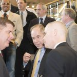 (l-r) Mayor Martin J. Walsh; Tom Goemaat, CEO Shawmut; Patrick Brophy chief of operations for the City of Boston.