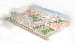 Rendering of Cherry Street Lofts Courtesy of Crosskey Architects