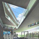UMass Lowell Pulichino Tong Business Building lobby atrium 1