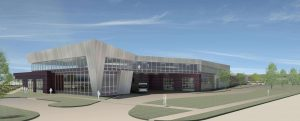 Rendering of PVTA Bus Operations and Maintenance Facility