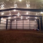 Interior of the new Pepper Hill Farm Indoor Riding Arena