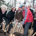 Governor Deval Patrick joins with state and local officials at the Walden Pond State Reservation new Visitor Center groundbreaking