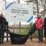 Walden Pond Visitor Center official signage